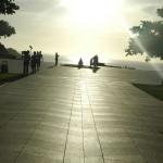平和の礎・6月23日の朝陽
