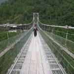 谷瀬の吊り橋・長さ297M